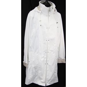 REMOVABLE HOOD WHITE RAINCOAT