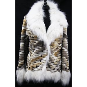 MANTEAU DE COYOTE RASÉ NATUREL