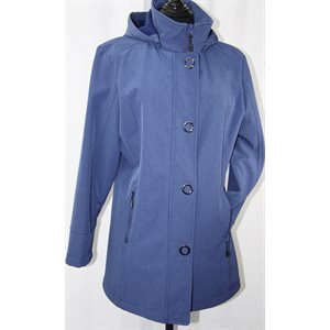 PETITE: BLUE RAINCOAT -REMOVABLE HOOD
