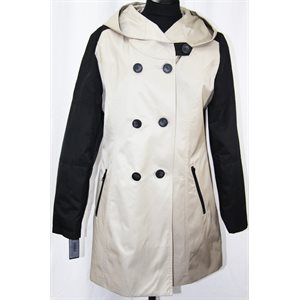 BLACK & BEIGE RAINCOAT