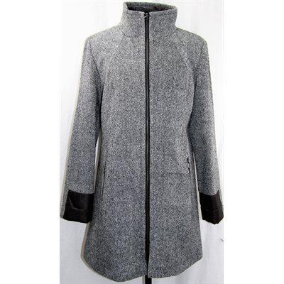 manteau de laine tweed gris. Black Bedroom Furniture Sets. Home Design Ideas