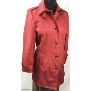 CHERRY RED RAINCOAT & UMBRELLA