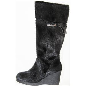 BLACK SEAL BOOTS WITH HEEL