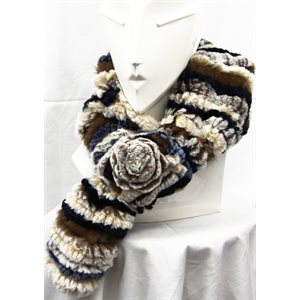 SUNDANCE KNITTED REX RABBIT SCARF
