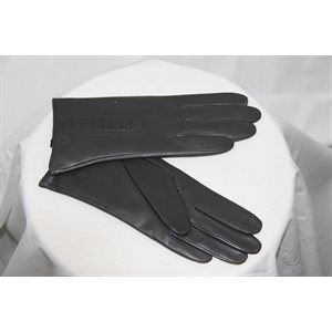GREY LAMB LEATHER GLOVES
