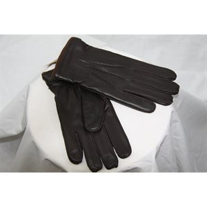 BROWN LEATHER GLOVES FOR MEN