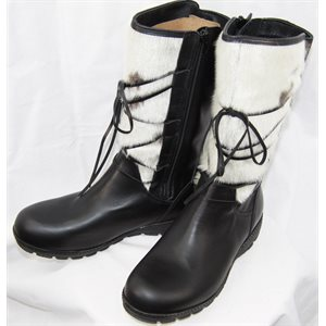 LEATHER & NATURAL SEAL BOOTS