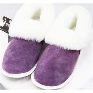 LAVENDER SUEDE SHEEP SLIPPERS