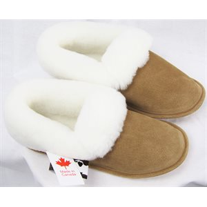 TAN SUEDE SHEEP SLIPPERS