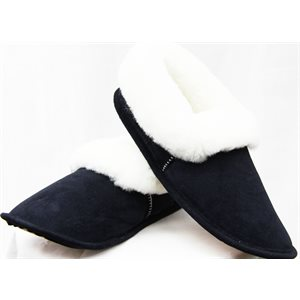 NAVY SUEDE SLIPPERS FOR MEN