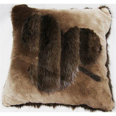 coussin de castor poils long castor ras. Black Bedroom Furniture Sets. Home Design Ideas