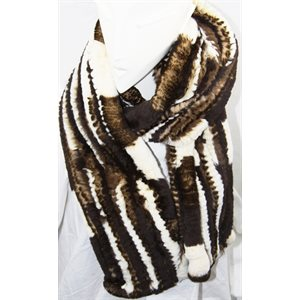 REX RABBIT KNITTED SCARF W / O TAILS
