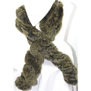 LODEN REX RABBIT KNITTED SCARF TWIST